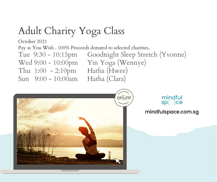 Charity Yoga Class for October (Adults) image