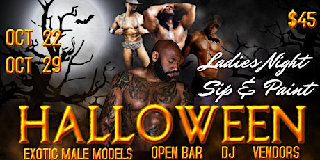 DMV-Sip, Paint & Hookah with Exotic Male Models- Halloween Edition tickets
