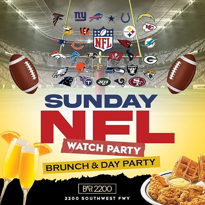 Sunday Funday @ Bar 2200 | Brunch |Mimosas | Hookah | Live Dj | Happy Hour image