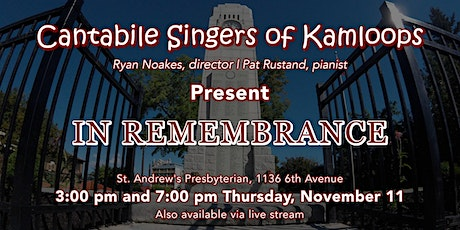 In Remembrance – LIVE STREAM tickets