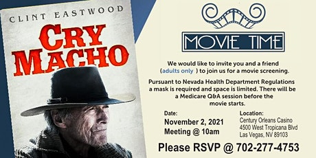 Movie Time - Cry Macho - Medicare Annual Enrollment tickets