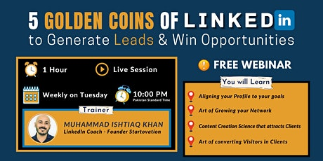 5 Golden Coins of LinkedIn to Generate Leads & Win Opportunities tickets
