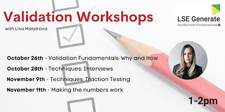 Validation Workshops with Lisa Makarova tickets