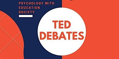 PES Ted Debate tickets