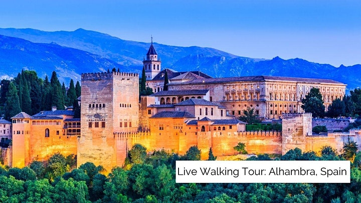 The Alhambra in Granada, Spain Walking Tour (Livestream) image
