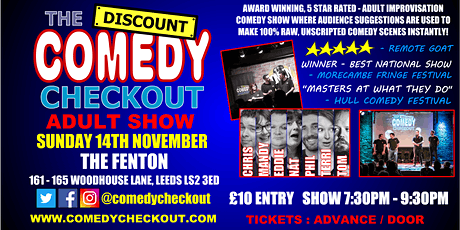 Comedy Night at The Fenton Leeds - Sunday 14th November tickets