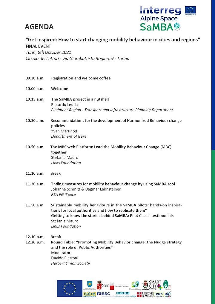 Interreg Alpine Space SaMBA Project - FINAL EVENT image