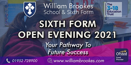 William Brookes Sixth Form Open Evening 2021 tickets