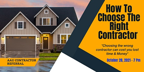 How To Choose The Right Contractor. - Speaker Ken Laughlin 30 Yr Contractor tickets