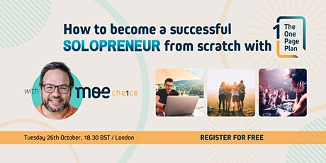 How to become a successful Solopreneur from scratch with The One Page Plan tickets