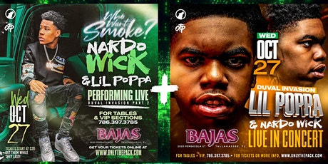 Nardo Wick + Lil Poppa Wolfpack Homecoming Concert @ Bajas Wed. October 27 tickets