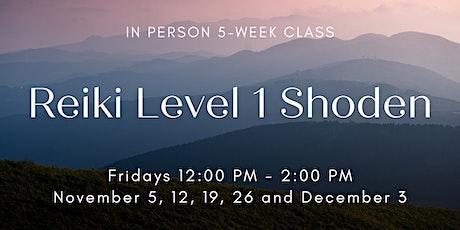Reiki Level I Shoden Class November tickets
