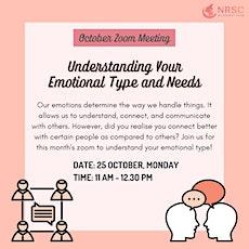 Understanding Your Emotional Type and Needs tickets
