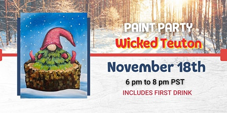 Winter Gnome Paint Night @ Wicked Teuton Brewing Co tickets
