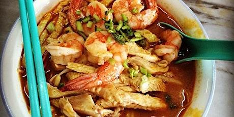 Sarawak Laksa (Vegan and Non-Vegan options) with Rash tickets