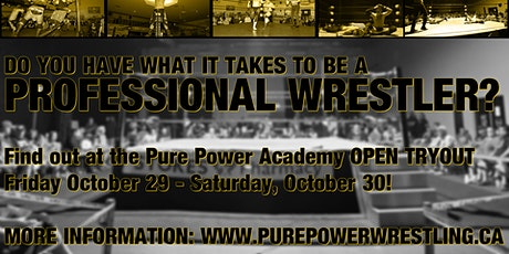 Pure Power Wrestling Tryout Camp tickets