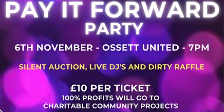 Pay it forward party tickets
