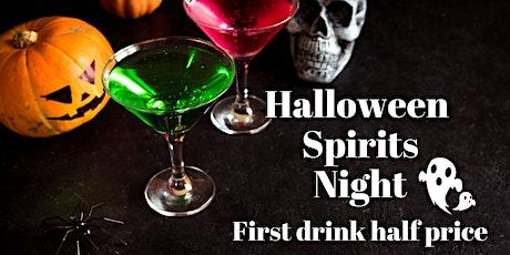 Halloween Spirits Evening - First drink half price tickets