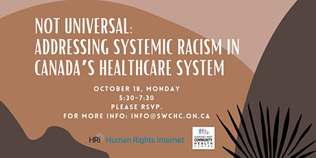 Not Universal: Addressing Systemic Racism in Canada's Healthcare System tickets