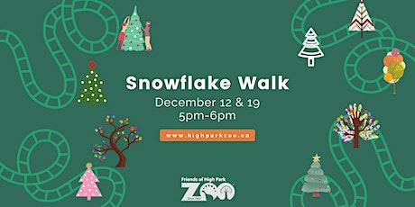 SNOWFLAKE WALK at HIGH PARK ZOO tickets