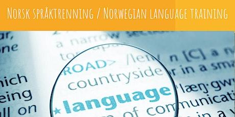 Norsk språktrening / Norwegian language training tickets