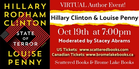 """""""State of Terror"""" conversation with Hillary Rodham Clinton & Louise Penny tickets"""