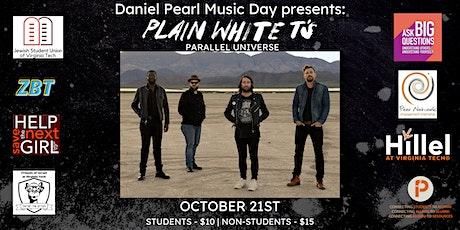Daniel Pearl Music Day 2021: Plain White Tees tickets