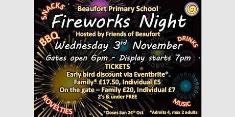 Beaufort Primary School Fireworks Night - Early Bird Discount Tickets tickets