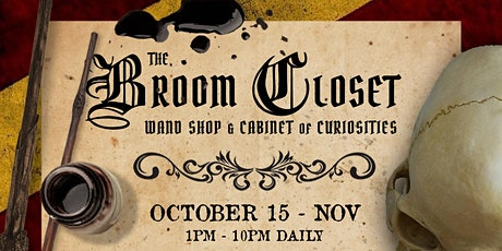 The Broom Closet - Wand Shop & Cabinet of Curiosities tickets