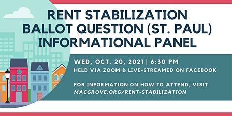 Rent Stabilization Ballot Question (St. Paul) Informational Panel tickets