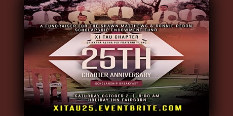 Copy of Xi Tau Chapter 25 Anniversary Scholarship Fundraiser tickets