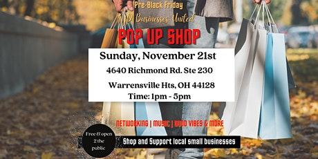 JD Businesses United POP UP SHOP Nov 21 Shop with Local  Small  Businesses tickets