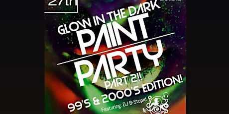 Glow in the Dark! Sip & Paint Party Part 2!  99's & 2000's Edition tickets