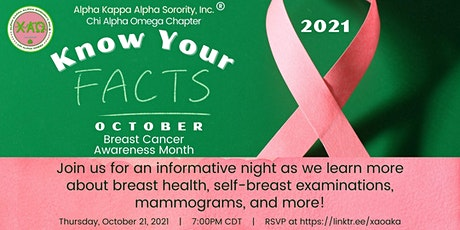 Breast Cancer Awareness Month: Know Your Facts tickets
