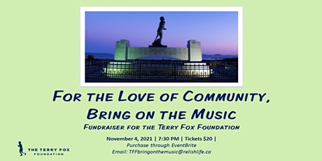 For the Love of Community, Bring on the Music tickets