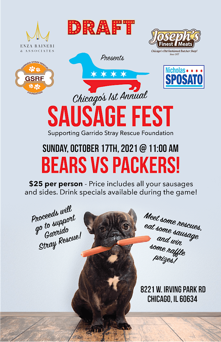 1st Annual Chicago Sausage Fest supporting Garrido Stray Rescue Foundation image