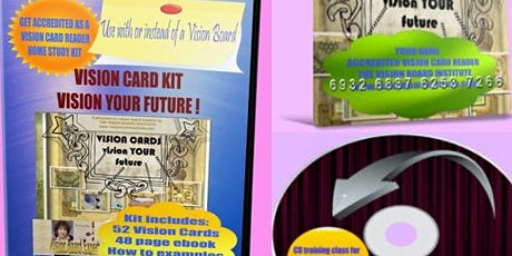 Become an Accredited Vision Card Reader in two 90 minute home study classes tickets