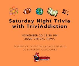 Saturday Night Trivia with TriviAddiction tickets