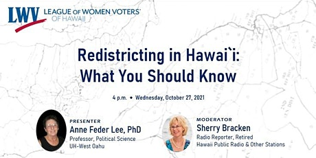 Webinar - Redistricting in Hawai`i: What You Should Know tickets
