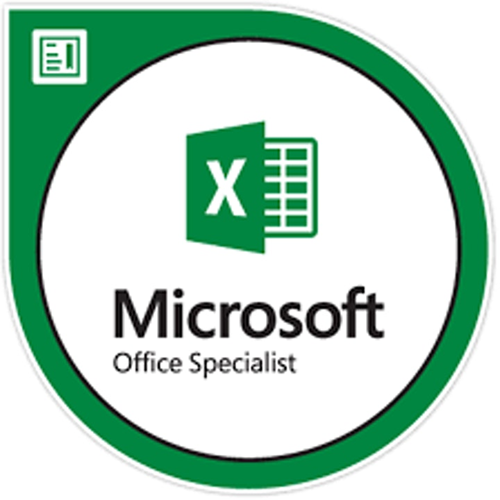 MICROSOFT EXCEL 365 with microsoft office specialist excel certification image
