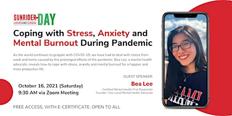 Sunrider Day: Coping with Stress, Anxiety & Mental Burnout During Pandemic tickets