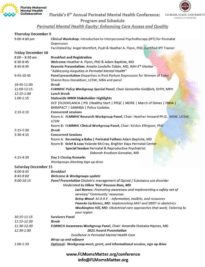 Florida's 6th Annual Perinatal Mental Health Conference image
