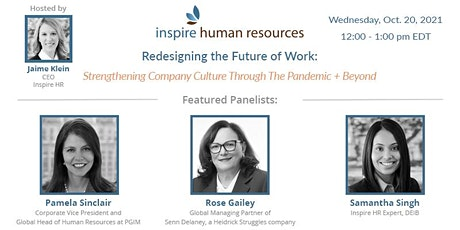 Strengthening Company Cultures Through The Pandemic + Beyond tickets