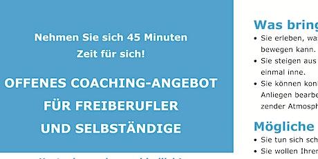 Online-Coaching-Angebot für Freiberufler und Selbständige Tickets