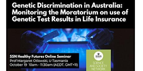 SSN Seminar with Margaret Otlowski: Genetic Discrimination in Australia tickets