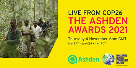 The Ashden Awards 2021: Online ceremony live from COP26 tickets