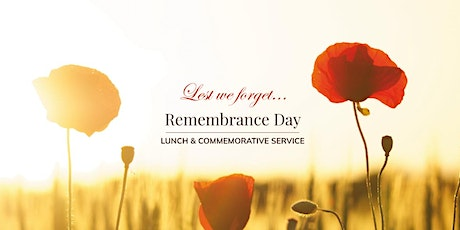 Remembrance Day Lunch & Commemorative Service tickets