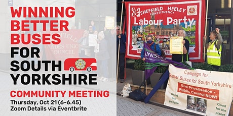 South Yorkshire Community Meeting: Winning Public Control of Our Buses tickets