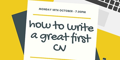 How to Write Your Great First CV tickets