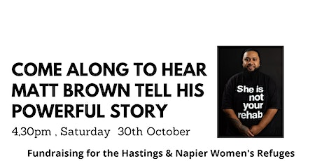 Matt Brown from She is not your Rehab tells his story tickets